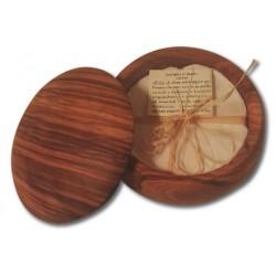 Ciotola con coperchio in legno d'ulivo con sapone da barba Esperidi 75 gr.