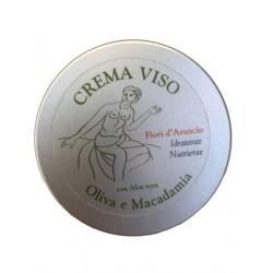 Crema viso Oliva e Macadamia - Fiori d'arancio  60ml