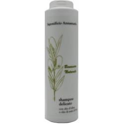 Shampoo delicato per capelli secchi all'olio di OLIVA EXTRAVERGINE e olio di semi di LINO, 250 ml